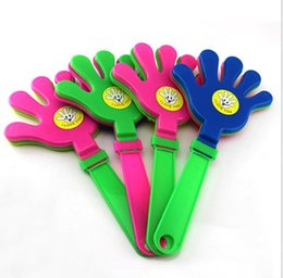 Wholesale Plastic Hands Clapper Clap Toy Cheer Leading Clapping for Olympic Game Football Game Noise Maker Baby Kid Pet Toys Party Festive Supplies