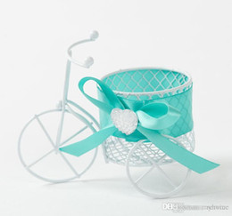 30Pcs Lot Iron Bicycle Candy Boxes Metal material Gift Box Wedding Favor Holders Boxes 2015 Style Free Shipping In Stock