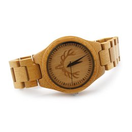 Wholesale BOBO BIRD Buck Head All Bamboo Strap Watches Wooden Strap Mens Watches Luxury Watches with Paper Gift Box Idea Gifts lt no tracking