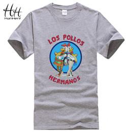 Wholesale-HanHent Los Pollos Hermanos T Shirts Men Breaking Bad T-shirts Sitcoms Summer Cotton Gym Clothing Swag Heisenberg Tee Shirts
