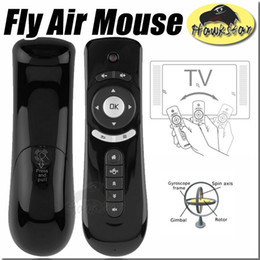Wholesale Gyroscope Mini Fly Air Mouse T2 G Wireless Android Remote Control D Sense Motion Stick For MXQ M8S S905 Android TV BOX
