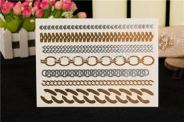 New 5cards   set 14.5 * 20cm metal tattoo temporary tattoo stickers waterproof temporary tattoo flash tattoo