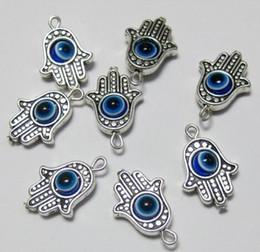 Wholesale MIC Hamsa Hand EVIL EYE Kabbalah Good Luck Charms Pendant