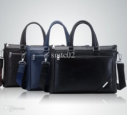 Wholesale Cheap Business Briefcase - Wholesale-Brand New style 2015 Hot Sale Cowhide male messenger bag handbag business casual briefcase laptop bag Cheap wholesale