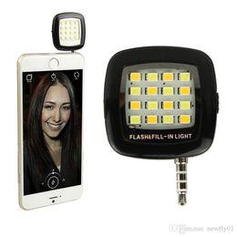 Selfie Light Torch Mini Portable Selfie Flash Light 16 LEDS Flash Fill Light Match With Selfie LED For Smart Phone