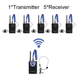 Wholesale 2 GHz Wireless Tour Guide System for Teaching Simultaneous Translation Meeting Museum Visiting transmitter receivers
