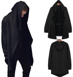 high quality men's clothing sweatshirt hoodie men hood cardigan mantissas black cloak outerwear oversize