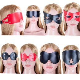Blindfold Erotic Goods Black Leather Mask Fetish For Women Sex Leather Masks Masquerade Bdsm Adult Sex Mask Bondage Sex Toys For Couples