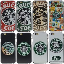 Wholesale Fashion Starbucks Star Wars Coffee Design Phone Hard Plastic Case Cover for Apple iPhone S inch S SE S MOQ