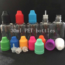 Wholesale 1000pcs E Liquid Empty Bottle LDPE PET ml E Cig Empty plastic Dropper bottles Colorful Eye bottles Factory price