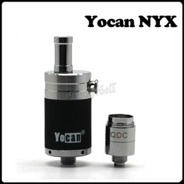 100% Original Yocan NYX Atomizers Wax Tank Vaporizer With Extra Quartz Dual Coil Fit 510 Thread 15W-25W Box Mods Yocan Evolve Plus