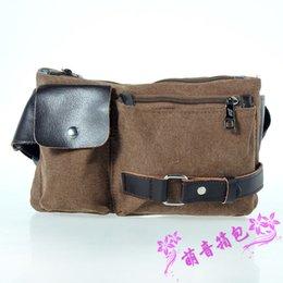 Wholesale Leather Fanny Packs For Men - Vintage genuine leather waist packs fanny pack Fashion men small travel bag for men Pocket sports waist wallet running bag