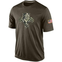 Wholesale NHL Florida Panthers T Shirts cheap Hockey jerseys Tshirts Salute To Service