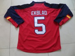 Wholesale Florida Panthers Home Jersey Mens Aaron Ekblad Red Ice Hockey Jersey Stitched Name Number