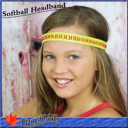 Wholesale Women Girl Tween Softball Stitch sports athletic cheer dance Flex Headbands