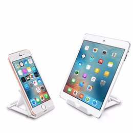 Universal Folding Mobile Phone Tablet PC Holder Plastic Adjustable Stand For Apple For Android Smart Phones Free shipping