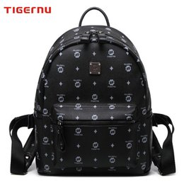 Wholesale Tigernu Authentic Backpack Fashion Men Women Knapsack Korean Stylish Shoulder Bag Brand Designer Bag High end PU School Bag