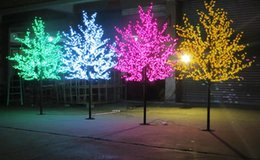 Wholesale 1 m ft Height Outdoor Artificial Christmas Tree LED Cherry Blossom Tree Light LEDs Straight Tree Trunk LED Light Tree