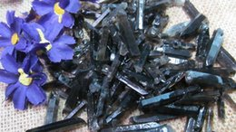 Wholesale AAAA Natural Black Crysal lemurian Seed Quartz Points Stone Ore Gems Stone Rough Ore Energy Rock Mineral Specimen Madagascar