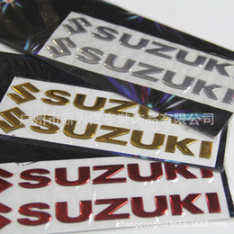 Wholesale Motorcycle car decorative applique D three dimensional soft for SUZUKI logo stickers personalized reflective stickers