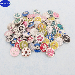 REALLY New Fashion Oil Dripping Mixed Design With Rhinestone Chunk Snap Button Charm Fit NOOSA Bracelet DIY Ginger Snaps Jewelry