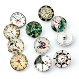 Wholesale Z0254 Time Watch button snaps noosa chunks for noosa leather DIY bracelets noosa jewelry