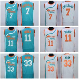 Wholesale Discount Jackie Moon Jersey Green White Flint Tropics Semi Pro Movie Jerseys Coffee Black Ed Monix Men Shirt Uniform For Sport Fans