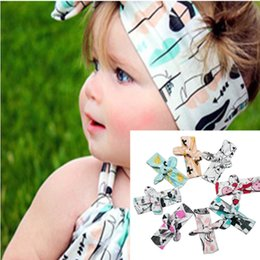 Wholesale knot headband bohemian baby hair bows girls toddler Baby hair band baby Hair Ornaments headband Animal hair clips hairbow clips