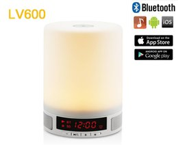 Wholesale Romantic atmosphere colorful lamp LV600 with HD audio bluetooth bluetooth TF card music playback Mio color alarm clock touch control