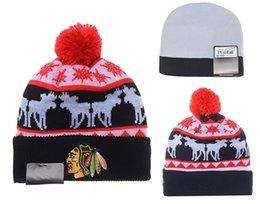 Wholesale CHICAGO BLACKHAWKS Hockey Beanies Team Hat Winter Caps Popular Beanie Caps Skull Caps Best Quality Sports Caps Allow Mix Order