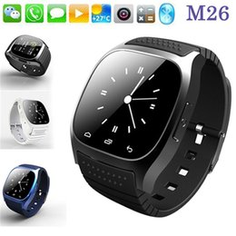 2016 Bluetooth Smart Watch M26 Waterproof Sport Watch For iPhone Samsung IOS Android Phone With Dial SMS Remind Pedometer