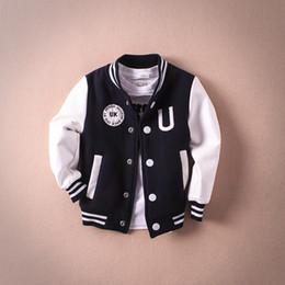 Wholesale new arrivals baby kid child Jackets for girls autumn winter coat boys Baseball uniform jackets outwear