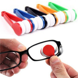 Free Shipping Mini Sun Glasses Eyeglass Microfiber Brush Sun Glasses Glass Cleaner Cleaning Spectacles Tool Clean Brush