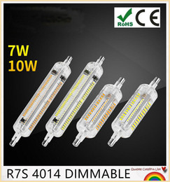 YON 10pcs R7S LED Bulb 7W 10W SMD4014 110V-240V 78mm 118mm LED Lamp Bulb R7S Light 360 Degree Halogen Lamp Floodlight
