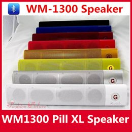 Wholesale WM Pill XL Speaker Bluetooth Speaker Super Bass Wireless Subwoofers Support FM TF Card USB Loud Speaker WM1300 For i6s Sumsang