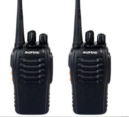 Wholesale 2 BAOFENG BF S Walkie Talkie UHF MHz W Channel VOX Flashlight Scan Monitor Voice Prompt Single Band Two Way Radio Low cost