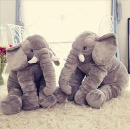 Wholesale 1pcs big size cm Infant Soft Appease Elephant Playmate Calm Doll Baby Toys Elephant Pillow Plush Toys Stuffed Doll