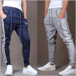 Wholesale 2016 jogger pants for boy men pants cheap price sport workout gym jogger pants Hip Hop Slim Football pants feet pants training pants