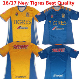 Wholesale 2016 Soccer Jersey Mexico Tigres UANL Maillot de foot Andre Gignac White Football Shirts Guerron Sobis tigres A15 camisas Top Quality