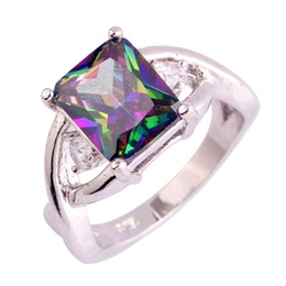 Party Gift Rainbow Topaz Women Men Rings Size 6 7 8 9 10 11 Free Shipping 925 Silver Rings Wholesale Handmade Jewelry Elaborate