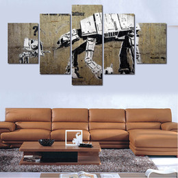 5 Panels Artwork Canvas Painting For Banks Wall Art Canvas Paintings For Living Room Wall Cuadros Decoracion Canvas Prints Photo