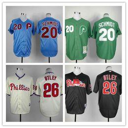 Wholesale MLB baseball Philadelphia Phillies Jerseys SCHMIDT UTLEY baseball jerseys freeshipping