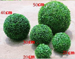 Wholesale New Arrival Artificial Plastic Silk Fabric Green Flower Grass Plant Ball For Garden Home Decor Wedding Christmas Bar Party Decoration