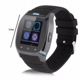 Fashion Men Bluetooth Watch LED Light Display with Dial   Call Answer   SMS Reminding   Music Player Watch Free Shipping WS00827