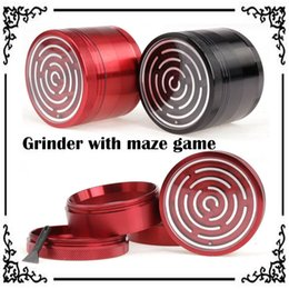 Wholesale Enjoyable Maze Game Grinders Aluminium Alloy mm Diameter Parts Metal Grinders Herb Grinders Herb Crushers Tobacco Grinders