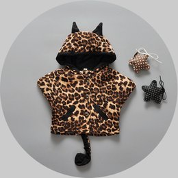 Hot ! 2016 Winter New lovely children cloak. Europe and Bestsellers cotton girls snow leopard cape coat