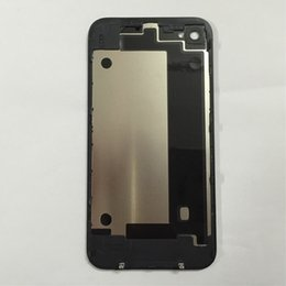 Top Quality Back Glass Battery Housing Door Back Cover Replacement Part with Flash Diffuser for iphone 4 4G 4S