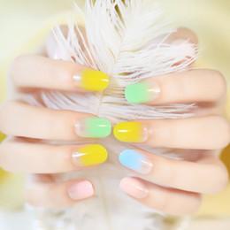 2016 New Fashion 24Pcs French Nail Short False Nails Acrylic Nail Art Tips Glitter Smooth Style Full Cover Nail Art Decoration 3x24Packs art