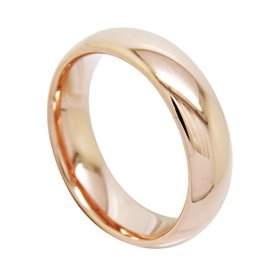 6mm Men Women Ladies Domed Half Round Tungsten Bands High Polish rose gold plated tungsten carbide wedding ring 511