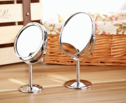 Wholesale Sale Stainless Steel Holder Magnification Cosmetic Bathroom Double Sided Mirror Desk Makeup Top Quality WA0067